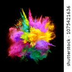 bright colorful explosion of... | Shutterstock . vector #1075421636