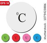celsius symbol flat round...