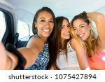 selfie photo of happy beautiful ... | Shutterstock . vector #1075427894