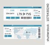 vector illustration of boarding ... | Shutterstock .eps vector #1075430240