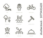 residence services icons set.... | Shutterstock .eps vector #1075431620