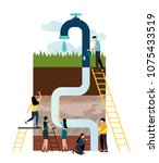 vector illustration  water... | Shutterstock .eps vector #1075433519