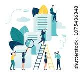 vector business illustration on ... | Shutterstock .eps vector #1075436348