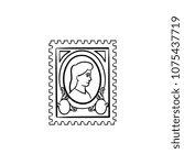 philately hand drawn outline...   Shutterstock .eps vector #1075437719