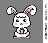 cute bunny vector design... | Shutterstock .eps vector #1075438493
