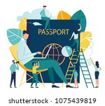 vector illustration business on ... | Shutterstock .eps vector #1075439819