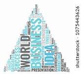 business idea marketing word... | Shutterstock .eps vector #1075443626