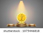round podium. pedestal or...   Shutterstock .eps vector #1075446818