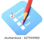 marketing concept with checkbox ... | Shutterstock . vector #107544983