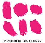 collection of hand drawn pink... | Shutterstock .eps vector #1075450310