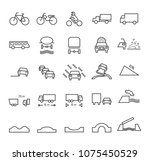 set of quality universal... | Shutterstock .eps vector #1075450529