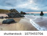 sango bay beach at durness on... | Shutterstock . vector #1075453706