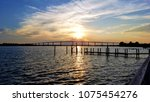 sunset over the thomas johnson... | Shutterstock . vector #1075454276