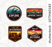 vector  travel color patch set. | Shutterstock .eps vector #1075460183