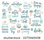 travel lettering design set  ... | Shutterstock .eps vector #1075460438