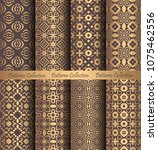 luxury seamless patterns... | Shutterstock .eps vector #1075462556