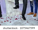 jewish wedding ceremony... | Shutterstock . vector #1075467599
