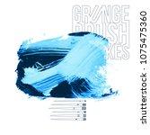 blue brush stroke and texture....   Shutterstock .eps vector #1075475360