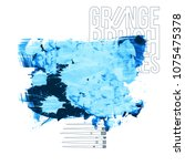 blue brush stroke and texture.... | Shutterstock .eps vector #1075475378