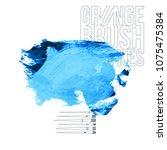 blue brush stroke and texture.... | Shutterstock .eps vector #1075475384