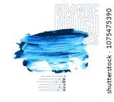 blue brush stroke and texture.... | Shutterstock .eps vector #1075475390
