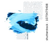 blue brush stroke and texture.... | Shutterstock .eps vector #1075475408