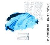 blue brush stroke and texture.... | Shutterstock .eps vector #1075475414