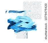 blue brush stroke and texture.... | Shutterstock .eps vector #1075475420
