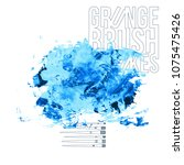 blue brush stroke and texture.... | Shutterstock .eps vector #1075475426