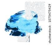 blue brush stroke and texture....   Shutterstock .eps vector #1075475429
