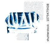 blue brush stroke and texture.... | Shutterstock .eps vector #1075475438