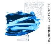 blue brush stroke and texture.... | Shutterstock .eps vector #1075475444