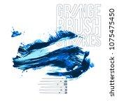blue brush stroke and texture.... | Shutterstock .eps vector #1075475450