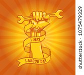 happy world labour day in 1st... | Shutterstock .eps vector #1075479329