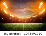 american football stadium 3d... | Shutterstock . vector #1075491710