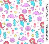 child seamless background. ... | Shutterstock .eps vector #1075493999