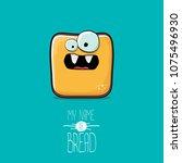 vector funky cartoon cute...   Shutterstock .eps vector #1075496930
