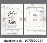 elegant creative business cards ... | Shutterstock .eps vector #1075502264