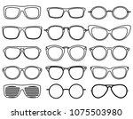 line glasses icons. wear... | Shutterstock .eps vector #1075503980