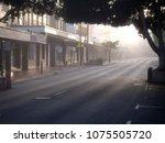 misty cityscape of buildings...
