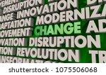 change innovation disruption... | Shutterstock . vector #1075506068