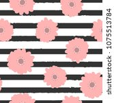repeating abstract flowers on... | Shutterstock .eps vector #1075513784