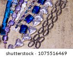 assembled beads and chains in...   Shutterstock . vector #1075516469
