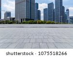 empty floor with modern... | Shutterstock . vector #1075518266