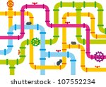 background of multicolored... | Shutterstock .eps vector #107552234