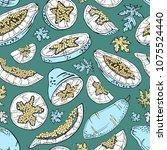 papaya seamless pattern....   Shutterstock .eps vector #1075524440