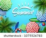 summer holidays background in...   Shutterstock .eps vector #1075526783