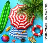 summer holidays background in... | Shutterstock .eps vector #1075526786