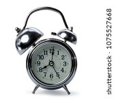 isolated retro alarm clock on... | Shutterstock . vector #1075527668