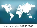 image of a vector world map... | Shutterstock .eps vector #107552948